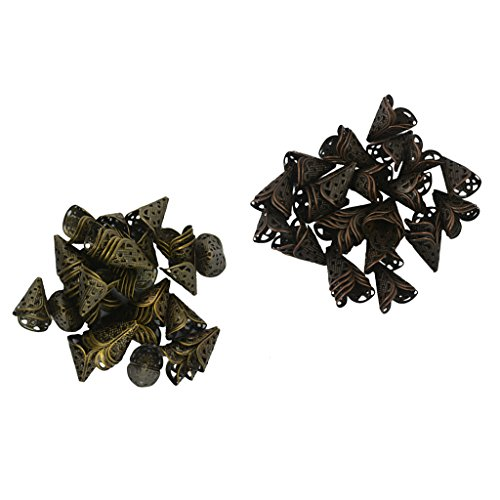 MagiDeal 100 Pcs Glocken Form Vintage Stil Perlenkappen Endkappen Perlen Kappen Basteln -