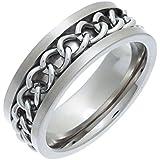 Theia Ring Flach Court Kette 8 mm Titan