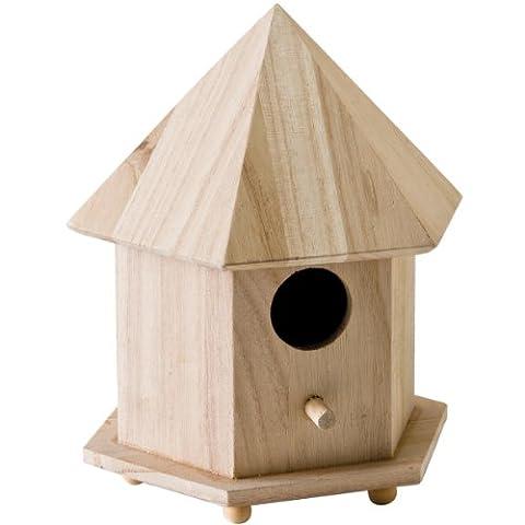 Plaid Surface en bois artisanales birdhouse, 12740Tonnelle