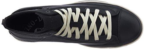 Esposizione Di Magneti Diesel I - Sneakers Alte Da Uomo In Pelle Liscia Nere (t8013)