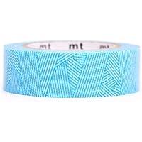 Nastro adesivo decorativo Washi blu motivo righe lana