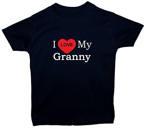 Acce Products I Love My Granny bébé/Enfants/Tops t-Shirts 0 à 5 Ans - Bleu - Petit