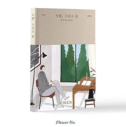 K-POP EXO CHEN - 1. Mini-Album [April und eine Blume] (Musik-CD + Lesezeichen, Fotoalbum, Faltplakat, Zusatzfotokartenset + Trackingnummer KPOP Sealed -