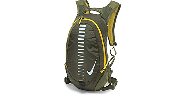 Nike Run Commuter Backpack 15L OliveCitronSilver: Amazon