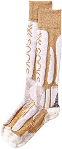 X-Socks Funktionssocken Ski Metal Lady, Gold/White, 39/40, X020309