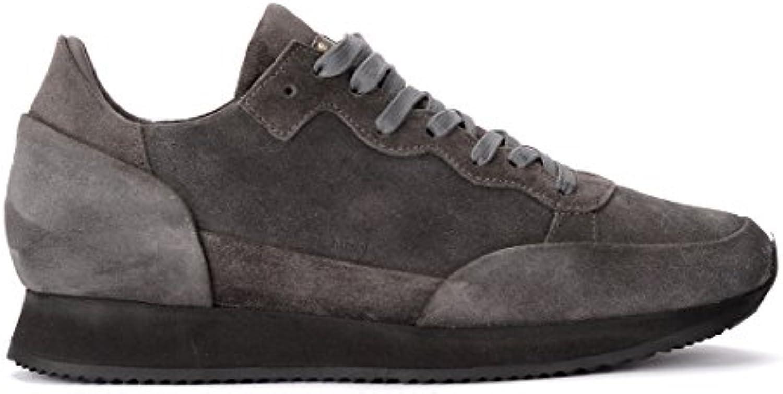 Philippe Model Sneaker Paradis in Veloursleder Grau