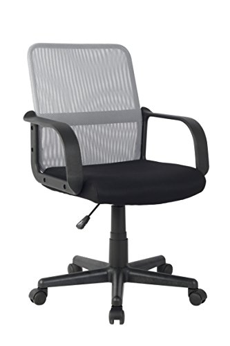 SixBros. Bürostuhl Drehstuhl Schreibtischstuhl Schwarz/Grau HLC-1278-2/2104