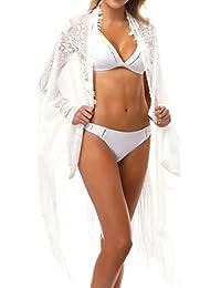a229fa1ce586 Copricostume Donna Frange,Copricostumi E Parei Donna Estate Multifunzione  Pizzo Trasparente Traforato Nappe Sciolto Bikini