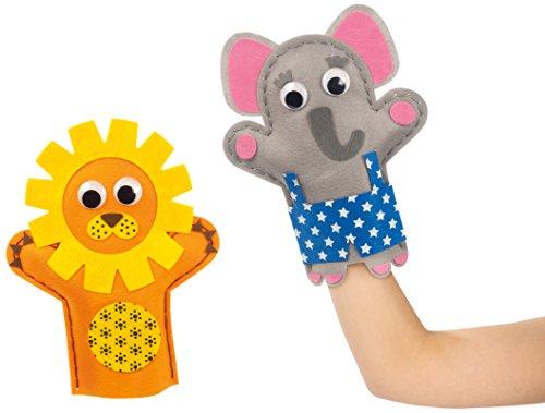 Goula- Elefante y león Marionetas 52029