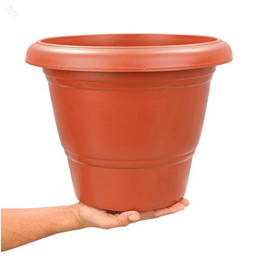 First-Smart-Deal-12-Inch-Planter-Pot-Pack-of-5-Brown