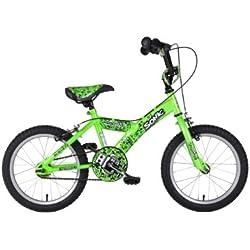 """Sonic Robotnic - Bicicleta para niño, tamaño 12"""", color verde"""