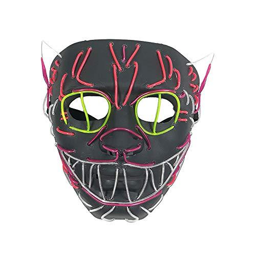 Kostüm Dämon Besten Am - Omiky Halloween Maske LED Masken Glow Scary Maske leuchten Cosplay Maske LED Maske Glimmmaske EL kaltes Licht Horrormaske Halloween