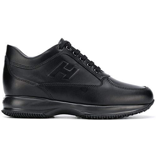 HOGAN interactive H rilievo scarpe uomo modello HXM00N09042BTLB999 nero pelle - 44 EU - 10 UK
