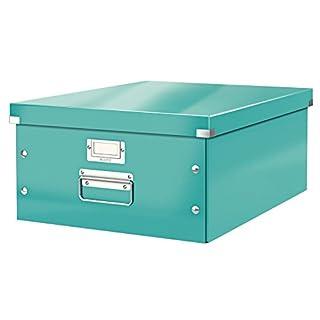 Leitz, Große Aufbewahrungs- und Transportbox, Eisblau, Mit Deckel, Für A3, Click & Store, 60450051