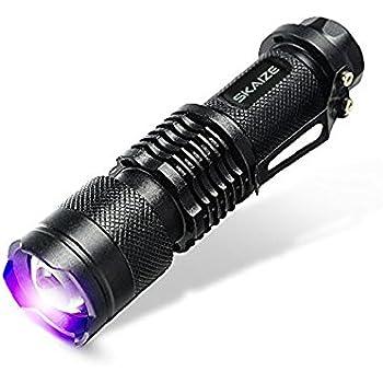 Skaize Schwarzlicht Taschenlampe UV LED-Handlampe