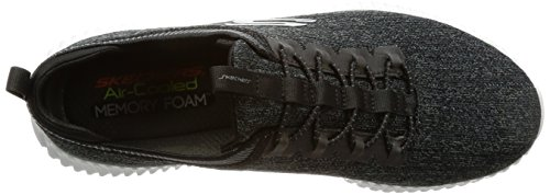 Skechers Elite Flex-Hartnell, Baskets Enfiler Homme Noir (Black/grey)