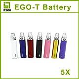 Batteria potenziata da 650mAh con controllo led per Sigaretta elettronica tipo EGO W CE4 CE5 EGO-T EGO-K colore a scelta compatibile con tutti gli atomizzatori in commercio