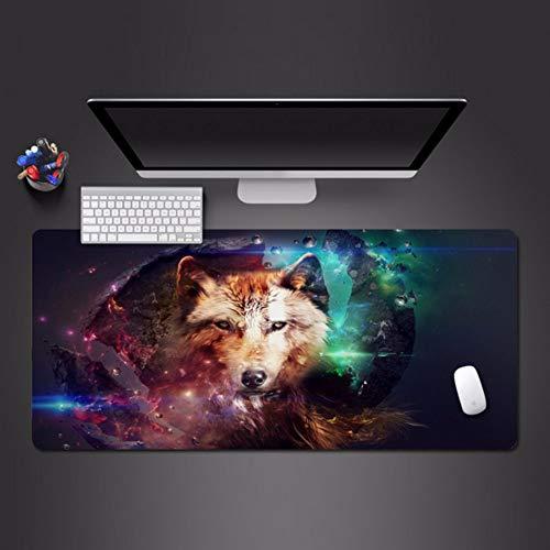 reputable site c654c 1f6f9 lbonb Cool Wolf Mouse Pad Gioco Macchina Gaming Mouse Pad Moda Computer  Tastiera Tappetino Pad Grande