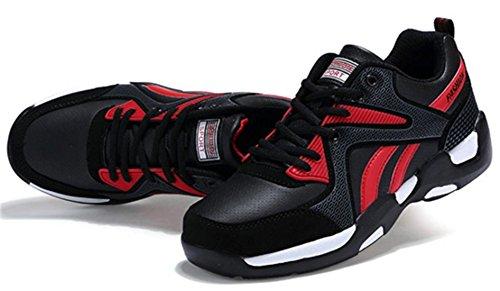 DADAWEN Chaussures de Sport Homme Rouge