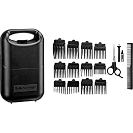 carbon titanium hair clipper - 416geUoQ25L - BaByliss for Men 7446BGU Carbon Titanium Hair Clipper.