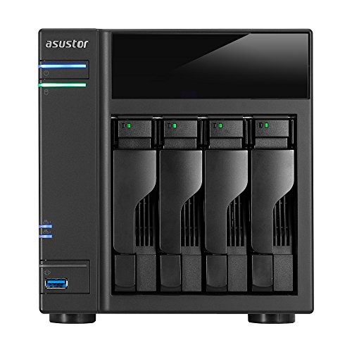 Asustor AS5004T 4-Bay NAS System (Intel Celeron 2.41 GHz...