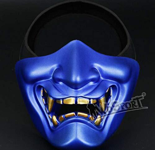 Männliche Kostüm Für Erwachsene - ZTYD Halloween Maske Kostüm Horror Cosplay Scary Latex Realistische Prop Gesichtsmaske Party Kostüm Requisiten Für Erwachsene Männliches Gesicht Halbes Gesicht Taktische Maske
