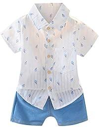 Conquro Moda de Verano cómoda para niños Camiseta de Manga Corta con Estampado de Helado de