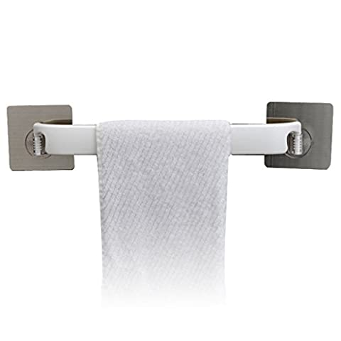 LI JING SHOP - Strong Sucker Towel Rack Seamless Paste Towel Bar Can Be Rotated Kitchen Towel Bar Bathroom Corner Towel Rack
