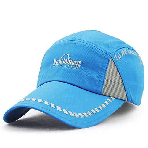 zhuzhuwen Schnell trocknende Kappe Paar Hut Sommer Männer und Frauen Casual Outdoor Golf Baseball Cap Sommer Neue 4 56-62cm