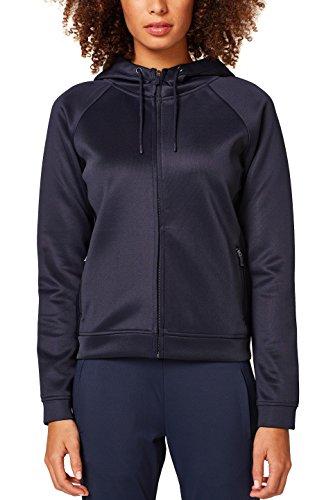 ESPRIT Sports Damen Sweatjacke 038EI1G005, Blau (Navy 400), 38 (Herstellergröße: M)