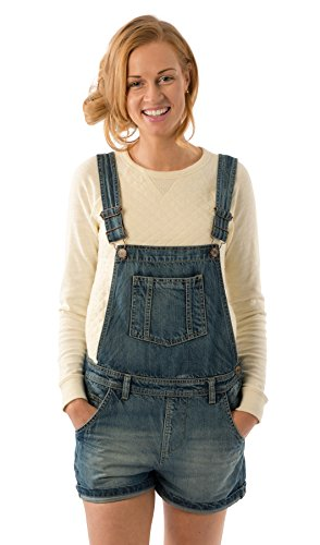 USKEES ANNA Loose Fit Latzshorts - Vintage Wash Oversized kurze latzhose damen ANNALIGHT-10