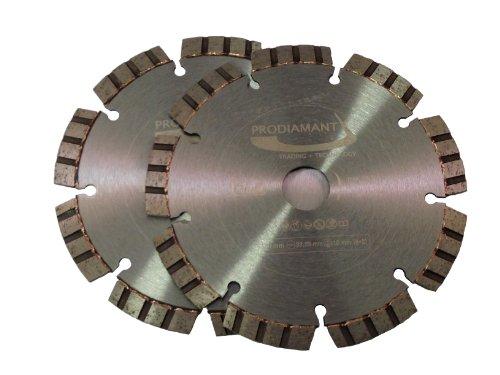PRODIAMANT Premium Diamant-Trennscheibe Beton Laser Turbo Doppelpack 150 mm x 22,2 mm Diamanttrennscheibe 2x PDX821.735 150mm