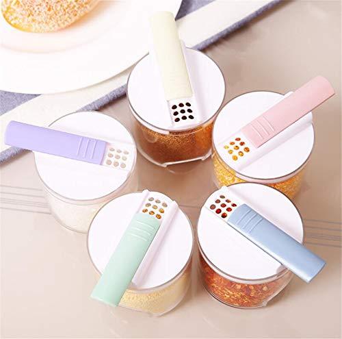 Durchsichtig Gewürzgläser Spice Box Salzstreuer Würze Box Kitchen Seasoning Jar Set Multifunktional Vorratsgläser 5 Stück/Set -