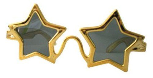 Fancy Dress Accessory Star Shaped Specs Gold by Home & Leisure Online