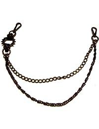 Chaîne de pantalon-bikerkette-porte-clés-noir-bK29 spike gate