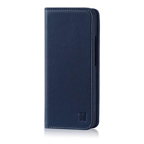 32nd Klassische Series - Lederhülle Case Cover für Nokia 8 Sirocco (2018), Echtleder Hülle Entwurf gemacht Mit Kartensteckplatz, Magnetisch und Standfuß - Marineblau