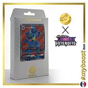 Lucario-GX 122/131 Full Art - #myboost X Soleil & Lune 6 Lumière Interdite - Box de 10 Cartas Pokémon Francés