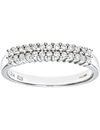 Naava Women 9 ct White Gold 0.25 ct Diamond Claw Set Eternity Ring