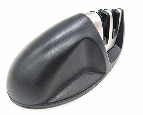Wdj Messerschärfer Maus Messerschleifer Mit 2 Stufen Für Küche Vorschliff Und Feinschliff 100 * 45 * 45Mm (Rot),Black