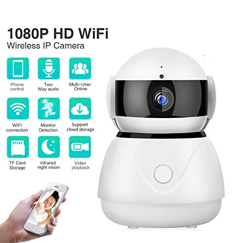 Cloud Home Camera, 1080P HD Wireless IP Security Camera Pan/Tilt/Zoom  Indoor Surveillance System mit Night Vision, Motion Detection, Remote  Monitor