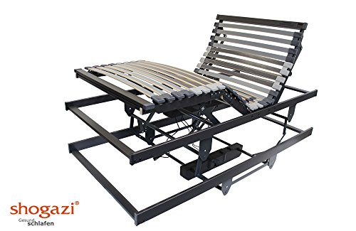 Krankenbett / Pflegebett - elektrischer höhenverstellbarer Lattenrost 3 Motoren - Made in Germany, Größe:100x200