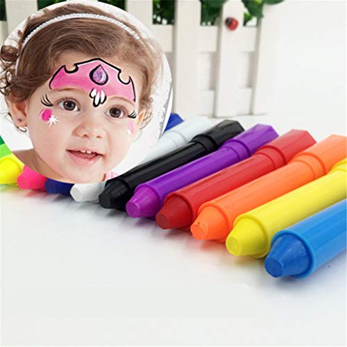 Halloween Gesicht malen Crayon Sticks Set waschbar Twistable Kit Halloween Make-up Marker Kinder Face Dress Up Buntstifte Neonfarben Whiteboard Wipe Clean Msrker (6PCS)