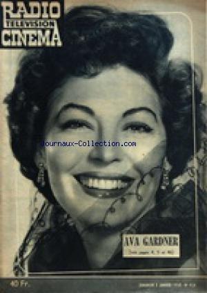 RADIO TELEVISION CINEMA [No 416] du 05/01/1958 - AVA GARDNER