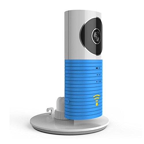 Plater Smart Baby-Monitor, WLAN, Video, Sicherheit für Zuhause, Kamera mit P2P-Nachtsicht, Video-Aufzeichnung, 2-Wege, Audio, Bewegungsmelder, unterstützt TF-Karte, für iPhone, iPad, Android Smartphone–Blau (Wifi Kamera Baby 2 Monitor)