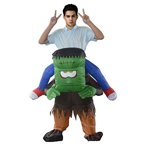 LTSWEET Monster Carry Me Aufblasbares Kostüm Erwachsene Fasching Karneval Junggesellenabschied Halloween Fancy Dress Cosplay Lustig Inflatable (Große Familien Halloween Kostüm)