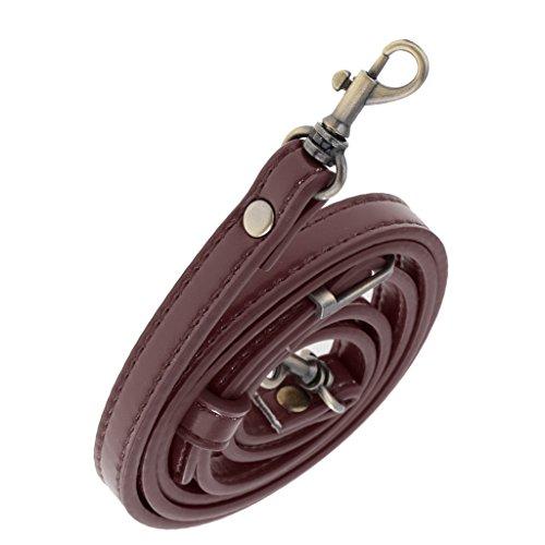 perfk Verstellbar Taschenbügel Taschenhenkel Taschengriffe Schultergurt Lederriemen Umhängetasche Band - Kaffee Band Kaffee