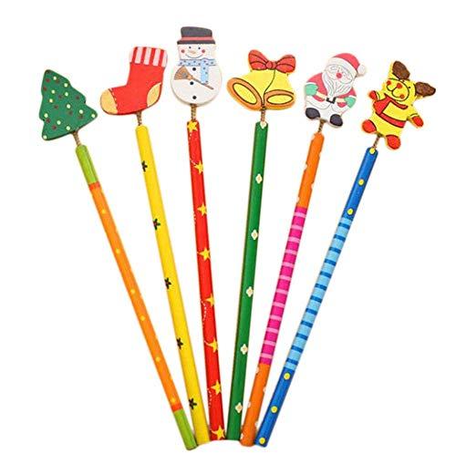 12x Demarkt Bleistift Holzbleistifte Stift für Kinder Weihnachten Geschenk Geschenksidee Länge von etwa 17cm