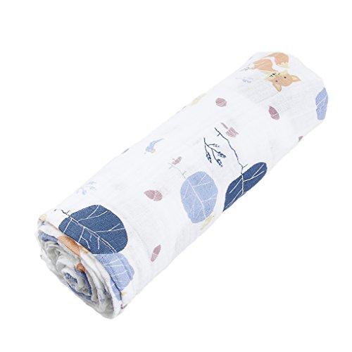 Liying Baby Einschlagdecke babydecke zum Einwickeln Wickeldecke weich Warm Wattiert Wickelsack Kinderwagendecke ,100% Baumwolle ,110 x 110cm
