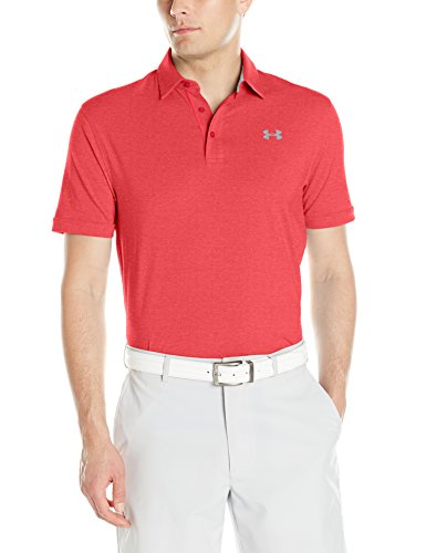 Under Armour Herren Charged Cotton Scramble Polo Kurzarmshirt rot