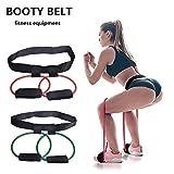 SINOTECHQIN 1PCS Fitness Women Booty Butt Band Resistance Bands Adjustable Waist Belt for Legs and Butt Ankle Resistance Belt, Leg Workout Equipment